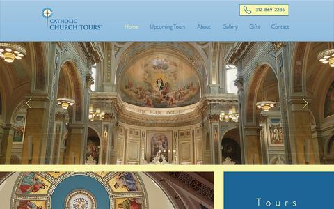 Screenshot of Home Page catholicchurchtours.com - Catholic Church Tours - captured Dec. 7, 2018