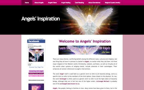 Screenshot of Home Page angels-inspiration.com - Angels' Inspiration and Angels' Inspirational Messages - captured Nov. 21, 2018