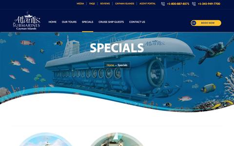Cayman Submarine Specials Package, Family Tour Specials package, Seaworld Family Specials Package