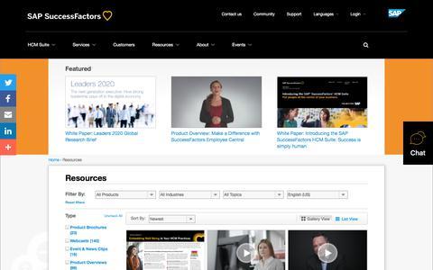 Resources             | SuccessFactors
