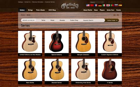Screenshot of Products Page martinguitar.com - Series | C.F. Martin & Co. - captured Sept. 24, 2014