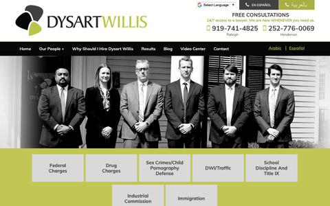 Screenshot of Site Map Page cedysart.com - Site Map | Dysart Willis | Raleigh, North Carolina - captured Oct. 9, 2018