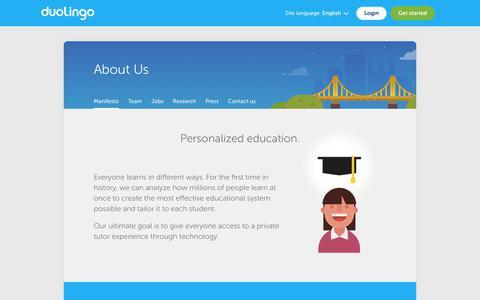 Duolingo - About Us