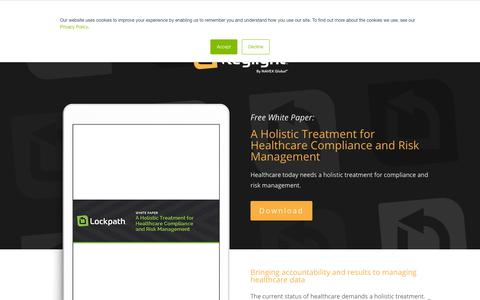 Screenshot of Team Page lockpath.com - Healthcare Compliance and Risk Management - Lockpath.com - captured Dec. 12, 2019