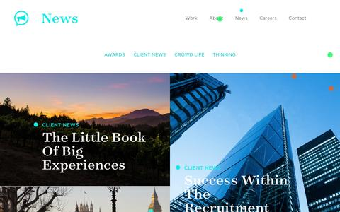 Screenshot of Press Page thisiscrowd.com - Crowd News: the latest happenings at Crowd around the world - Crowd - captured Oct. 14, 2016