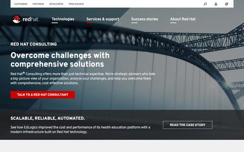 Screenshot of redhat.com - Consulting: IT experts solving tough business problems - captured Feb. 15, 2017