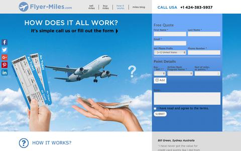 Screenshot of FAQ Page flyer-miles.com - how it works - flyer-miles.com - captured Nov. 6, 2018