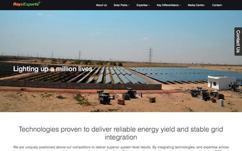 Screenshot of About Page raysexperts.com - About Us : Rays Power Experts Pvt Ltd | New Delhi (India) - captured Feb. 14, 2016