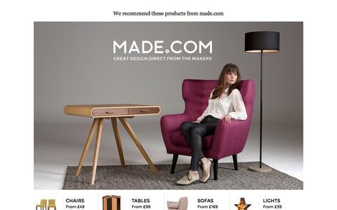 Screenshot of Home Page mydeco.com - Mydeco.com - captured Sept. 16, 2014