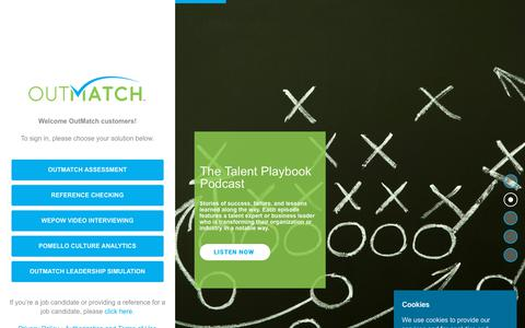 Screenshot of Login Page outmatch.com - Sign In - OutMatch - captured Oct. 9, 2019