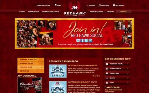 Screenshot of Blog redhawkcasino.com - Red Hawk Casino Blog | Red Hawk Casino - captured Sept. 22, 2014