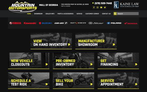 Screenshot of Home Page mmsmallofga.com - Mountain Motorsports - Mall of Georgia - Located in Buford, GA - Powersports and Marine Dealership with Parts, Service and Financing - captured Jan. 11, 2018