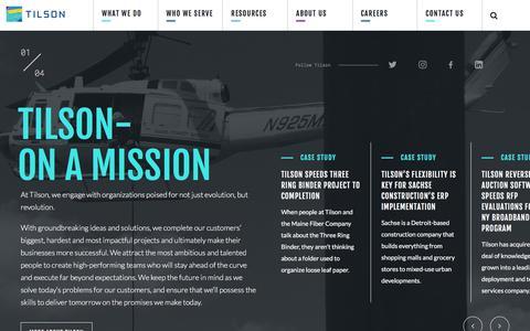 Screenshot of Home Page tilsontech.com - Network Deployment and Construction Technology  | Tilson - captured Jan. 12, 2018