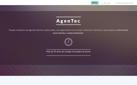 Screenshot of Home Page Terms Page agentec.es - :: AgenTec. Agentes técnico comerciales :: - captured Feb. 5, 2016