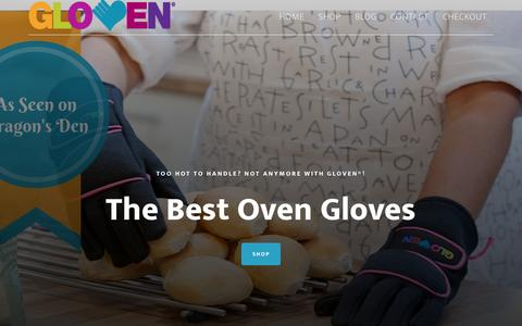 Screenshot of Home Page gloven.co.uk - Oven Gloves | Best Oven Gloves with Fingers - captured Sept. 19, 2015