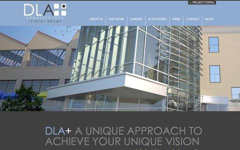 Screenshot of Home Page dlaplus.com - DLA+ Architecture & Interior Design - captured Oct. 5, 2014