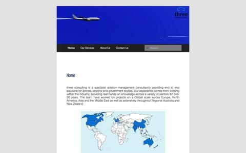 Screenshot of Home Page threeconsulting.com.au captured Oct. 9, 2014