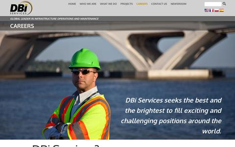 Screenshot of Jobs Page dbiservices.com - Careers | DBi Services - captured Feb. 8, 2016