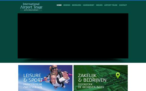 Screenshot of Home Page teuge-airport.nl - Home - Airport Teuge - captured Feb. 15, 2016