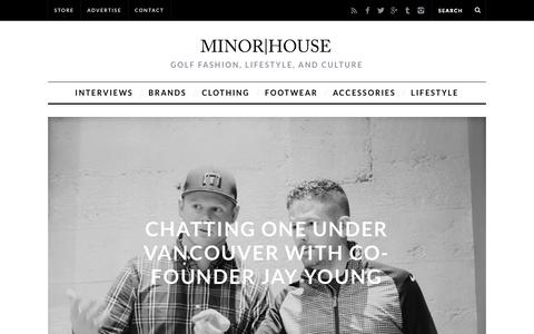 Screenshot of Home Page minorhouse.com - MINOR|HOUSE - Golf Fashion and Lifestyle News, Reviews, and Interviews - captured Oct. 3, 2014