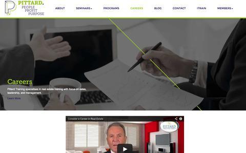Screenshot of Jobs Page pittard.com.au - Real Estate Careers Pittard Training Group - captured Nov. 2, 2014
