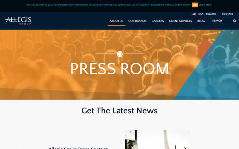 Screenshot of Press Page allegisgroup.com - Press Room - captured Dec. 24, 2015