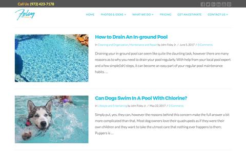 Screenshot of Blog foleypools.com - Blog | Everything You Need To Know About Custom Pools - captured June 6, 2017