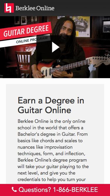 Earn a Degree in Guitar Online with Berklee