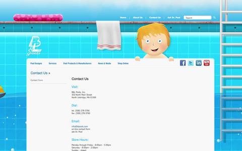 Screenshot of Contact Page blpools.com - Contact Us  - B&L Pools - captured Oct. 1, 2014