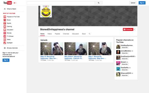Screenshot of YouTube Page youtube.com - StonedOnHappiness's channel  - YouTube - captured Oct. 22, 2014