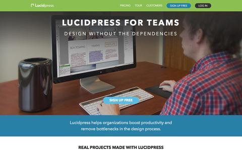 Screenshot of Team Page lucidpress.com - Lucidpress for Teams | Lucidpress - captured Jan. 5, 2016
