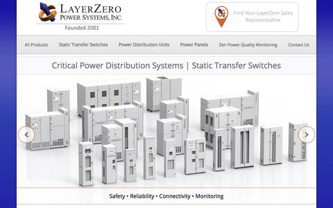 Screenshot of Home Page layerzero.com - LayerZero Power Systems, Inc | The Foundation Layer - captured July 20, 2017