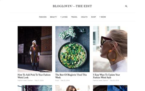 Screenshot of Blog bloglovin.com - Bloglovin'—the Edit - captured Feb. 21, 2016
