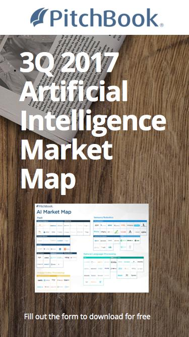 PitchBook 3Q 2017 Artificial Intelligence Market Map