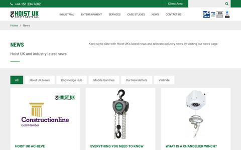 Screenshot of Press Page hoistuk.com - News - Hoist UK - captured July 20, 2018