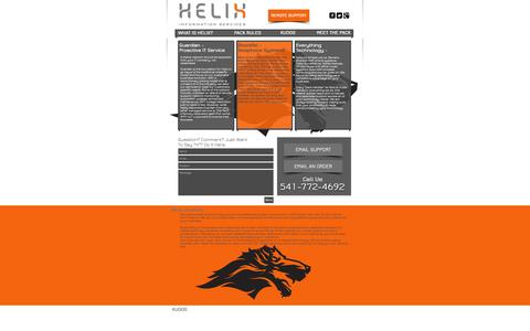 Screenshot of Services Page helixinc.com - Helix Information Services - IT Support - captured Oct. 2, 2014