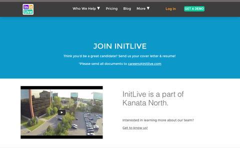 Screenshot of Jobs Page initlive.com - InitLive | Careers - captured Nov. 26, 2016