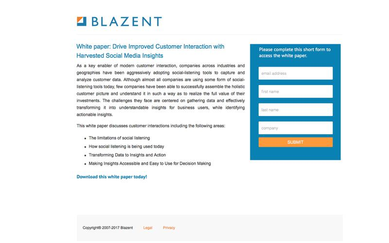 Blazent | Drive Improved Customer Interaction with Harvested Social Media Insights