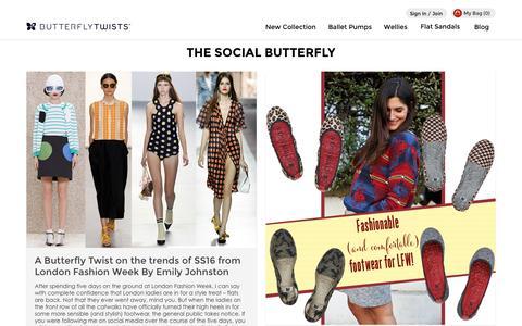 Screenshot of Blog butterflytwists.com - The Social Butterfly Blog | Butterfly Twists - captured Oct. 1, 2015