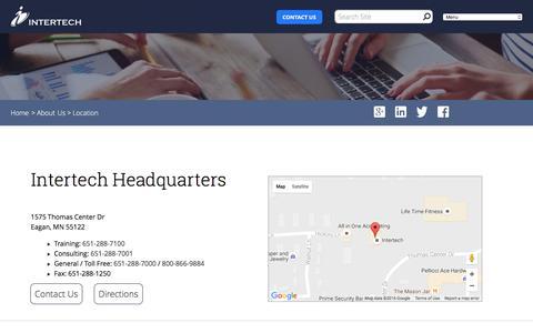 Screenshot of Locations Page intertech.com - Intertech - Location - captured Aug. 6, 2016