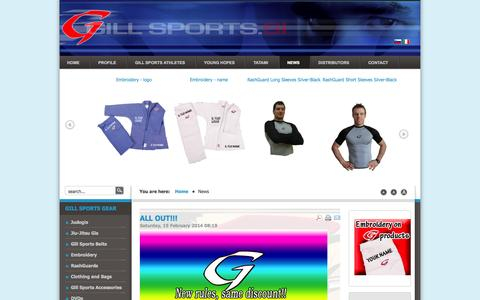 Screenshot of Press Page gillsports.si - Gill Sports Central Europe, JUDO and SPORT - News - captured Oct. 2, 2014