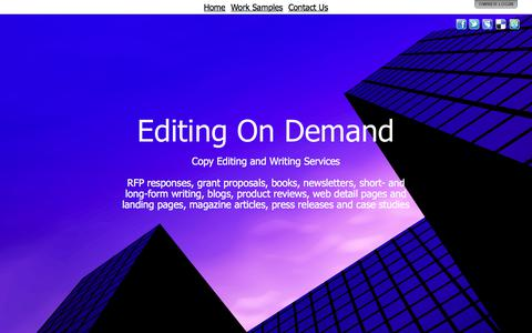 Screenshot of Home Page eodofcalifornia.com - Editing On Demand - captured Sept. 26, 2018