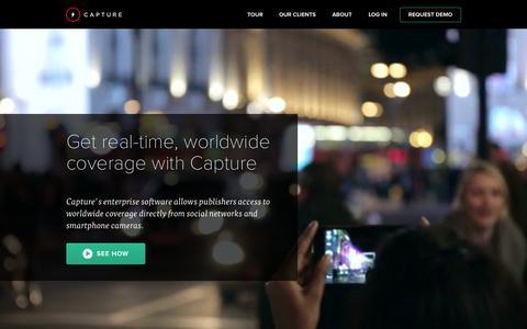 Screenshot of Home Page capture.com - Capture - captured July 3, 2015