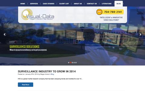 Screenshot of Blog visual-data.com - Visual Data - captured Oct. 10, 2014