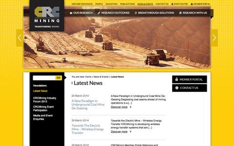 Screenshot of Press Page crcmining.com.au - Newsroom | CRC Mining | CRC Mining - captured Sept. 26, 2014