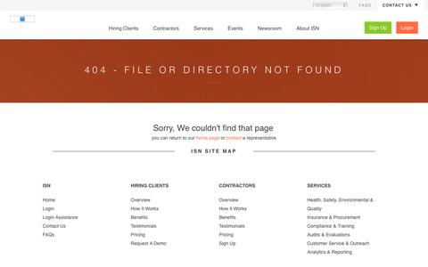 404 Error - File or directory not found | ISN