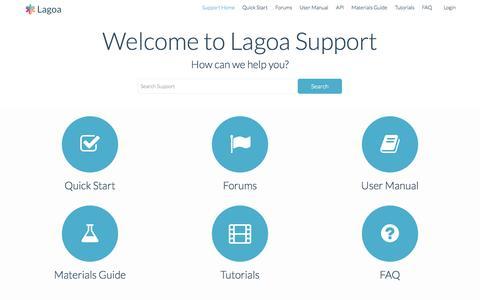 Screenshot of Support Page lagoa.com - Lagoa Support - captured Nov. 3, 2015