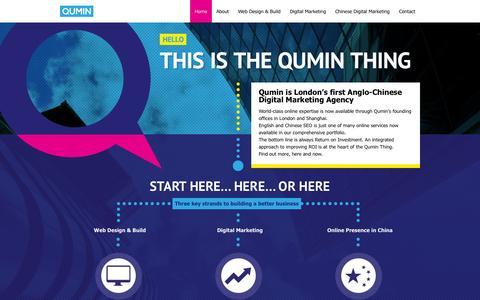 Screenshot of Home Page qumin.co.uk - Anglo-Chinese Digital Marketing Agency | London, Shanghai | Qumin - captured Sept. 22, 2014