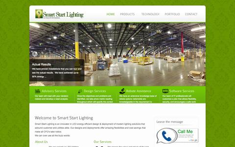 Screenshot of Home Page smartstartlighting.com - Smart Start Lighting - Turn-Key LED SSL Solution - captured Oct. 8, 2014
