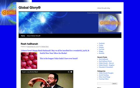 Screenshot of Blog globalglory.gg - Global Glory® | Global Glory®'s Blog - captured Oct. 2, 2014